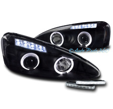 04-08 PONTIAC GRAND PRIX HALO LED PROJECTOR HEADLIGHTS LAMPS BLACK W/DRL SIGNAL