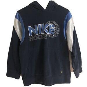 Vintage Nike Hoops Blue Pullover Hoodie Boy's L (14-16)