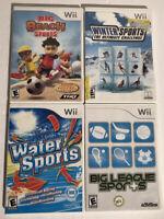 Nintendo Wii Sports Game Bundle Lot of 4 Big League Big Beach Water Winter GUC