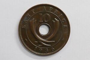 BRITISH EAST AFRICA 10 CENTS 1936 H HIGH GRADE B29 #8476