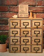Handmade Wooden Shabby Storage Chest of 12 Drawers Organiser Cabinet Cupboard