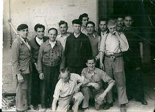 Photo argentique Equipe de tournage film 1945 cinéma