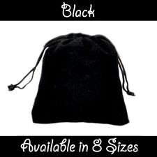 Black Velvet Gift Pouches Wedding Favour Bags Jewellery Pouch In 8 Sizes
