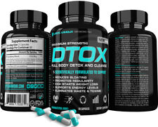 DTOX™ Best Detox Supplement & Full Body Cleanse for Weigh Loss Energy Fat Burner