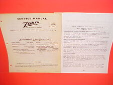 1946 1947 1948 FORD V-8 SUPER DELUXE CONVERTIBLE ZENITH AM RADIO SERVICE MANUAL