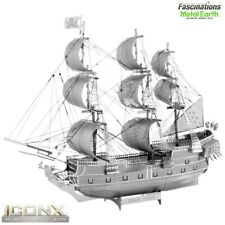 New! Metal Earth ICONX Black Pearl Pirate Ship 3D DIY Model Building Kit Puzzle