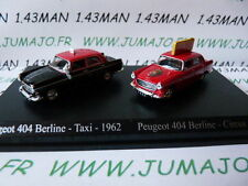 HO15 DUO voitures 1/87 HO norev PEUGEOT 404 cirque 1966 + taxi 1962
