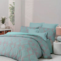 Apartmento AUSTERE Aqua Quilt Doona Cover Set - Single Double Queen King