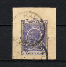 (YYAC 167) British East Africa 1929 USED KUT cut squares stationery registration