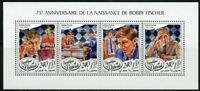 DJIBOUTI 2018 75th BIRTH  ANNIVERSARY OF BOBBY FISCHER SHEET  MINT NEVER HINGED