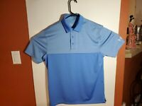 Under Armour Heat Gear Loose Golf Polo Shirt Two Tone Blue Mens Medium