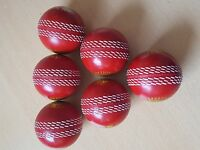 Cricket  Practicing Hard balls indoor and outdoor ( 6 pack ) ORANGE/RED