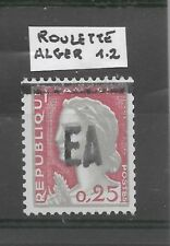 Roulette 0,25F Decaris surch. EA d' Alger, type 1-2