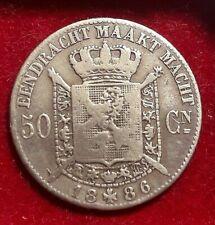 50 cent 1886 vlaams * Prachtig * LEOPOLD II * Belgique Belgïe Belgium Coin