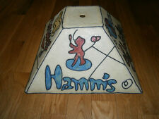 NOS Beer Pool Table Hanging Light Miller Schlitz Hamm's Pabst Stained Glass