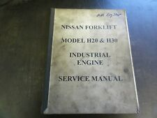 Nissan H20 H30 Industrial Engine Service Manual