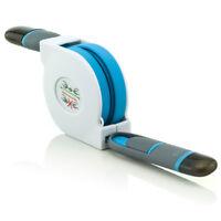Ausziehkabel 8 Pin/USB Daten/ladekabel Blau für Wiko View 2 Pro/ View 2 Lite