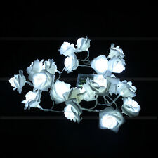 20 LED Battery Rose Flower String Lights Wedding Party Christmas Decoration HG