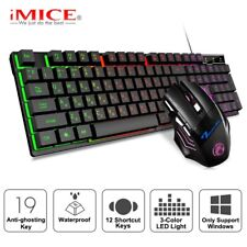 Gaming Pro backlight Russia Gamer kit keyboard and Mouse Wired 5500Dpi Silent