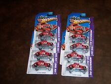HOT WHEELS - 34 FORD 3 WINDOW - LOT OF 8 - ALL RED - AWESOME CARS - NEW