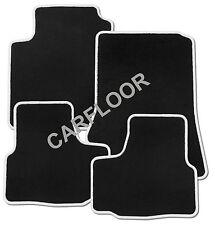 Für Mitsubishi Space Star Bj. ab 3.2013 Fußmatten Velours schwarz mit Rand weiß