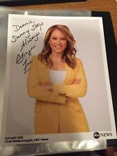 Ginger Zee Authentic Signed Autograph Photo Good Morning America