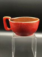 Frankoma Pottery Vintage Handled Soup Cup Red #4SC, 1960's