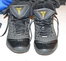 Nike Zoom Kobe III 3, Black Anthracite Varsity Maize, 318090 012, Sz 14