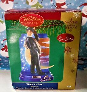 Frank Sinatra Carlton card Night DAY ORNEMENT Harlequin style American Greetings