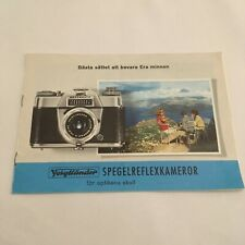 BOOKLET FOR THE VOIGTLANDER CAMERAS AND ACCESSORIES IN GERMAN LANGUAGE