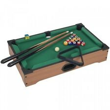 Mini Table Top Pool Table with Cues, Triangle and Chalk 1, New, Free Shipping