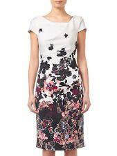 "NWT Multi Colour ADRIANNA PAPELL ""Floral Bliss"" Sheath Drape Dress Size US8/AU12"