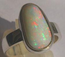 Multicolor Opal 3.95 Karat 950er Silberring Größe 17,5 mm