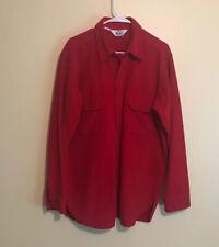 Woolrich Men's Long Sleeve Button Front Red  Shirt Over-Shirt XL USA Cotton