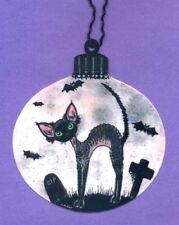 Devon Rex cat Halloween moon sign from original painting by Suzanne Le Good