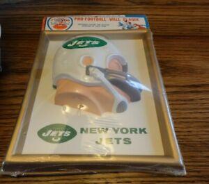 Vintage 1960's  AFL NY Jets Plaque, Unopened.
