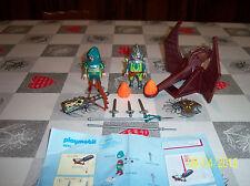 2 soldats du Dragon vert + catapulte réf 4840 playmobil