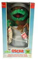 Oscar the Grouch Animated Christmas Display Figure Motionette Seseme Street