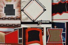 WWE 2005 - 2014 SHIRT / MAT / PATCH RELIC Card singles TOPPS