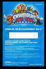 CODE TELECHARGEMENT POUR LE JEU SKYLANDERS TRAP TEAM POUR CONSOLE WiiU