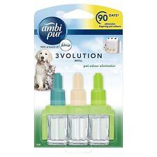 2 X Ambi PUR 3volution Plug-in Refill Pet Odour Eliminator Air Freshener 20ml