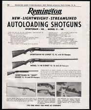 1951 REMINGTON Sportsman '48 and 11-'48 Shotgun PRINT AD Old Gun Advertising