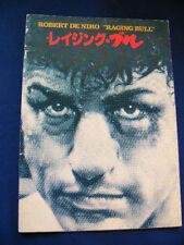 a285.1981 RAGING BULL Japan PROGRAM Robert De Niro Cathy Moriarty Joe Pesci RARE