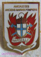 IN17930 - INSIGNE BADGE AMICALE ANCIENS MARINS POMPIERS DE MARSEILLE