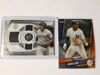 Miguel Andujar 2019 Topps Finest Baseball & Tribute Triple Threads /150 (2) LOT