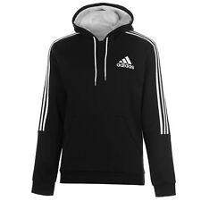 ADIDAS Men's 3 Stripe PO Pullover Fleece Hoodie - Size XL to 3XL - OZ STOCK!