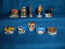 ITALIAN Icons SYMBOL Italy Colosseum Set of 10 Figurines FRENCH Porcelain FEVES