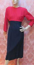"VTG COUTURE 1960s OLEG CASSINI Superb ""JACKIE KENNEDY"" STYLE RED-Black DRESS $NR"