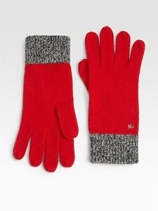 Marc By Marc Jacobs 132317 Scarlet Multi Red Gloves One Size