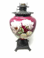 1860's Hand Painted Oil Lamp